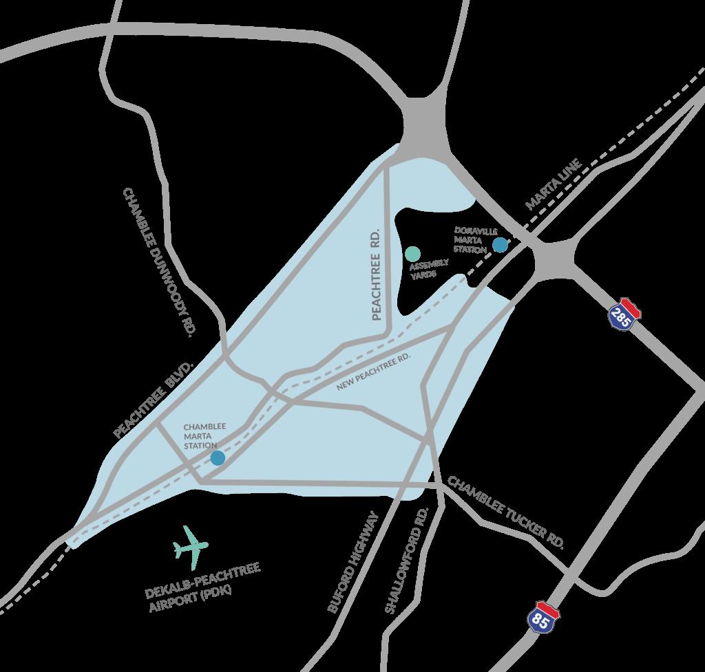 Map of Chamblee Doraville CID